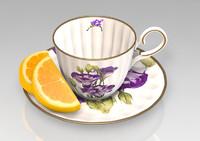 tea cup obj