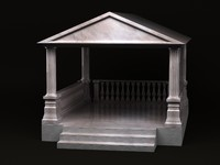 gazebo greek 3d max