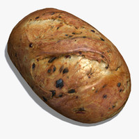 cheddar jalapeno bread 3d model