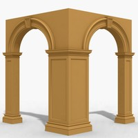 3d model of arch archway wall