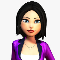 chloe cartoon girl obj