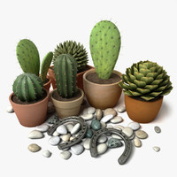3ds max cactus group 1