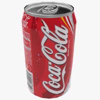 3d cans coke