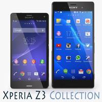 3d sony xperia z3 black