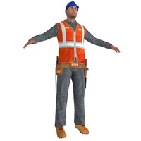 worker man 3d obj