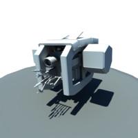 sci-fi repair drone 3d model
