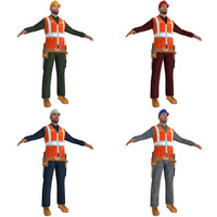 3d pack worker man