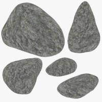 3d model set rock
