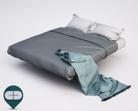 c4d photorealistic blankets pillows