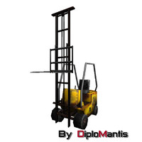 Forklift low poly
