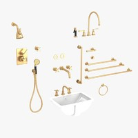 3d furniture set bath model