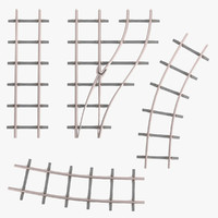 railway lines set 3ds
