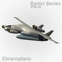 Ekranoplan Beriev VVA-14