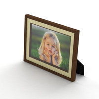 picture frame portrait landscape 3d model