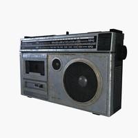 3d cassette player model