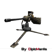 3d model of military turret