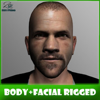 3ds max - body facial rigged