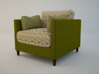 3d lovely armchair model