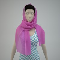 3d model of scarf -