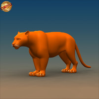 tiger cat 3d obj
