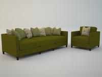 Jordan sofa scatterback
