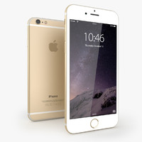 3ds iphone 6 gold mobile phone