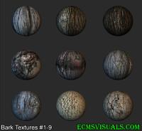 Tree Bark Textures #1-9