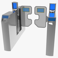 3d model london underground turnstile