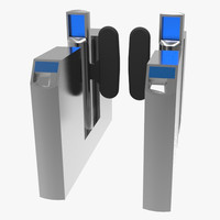 3d london underground turnstile