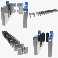 london underground turnstiles fbx