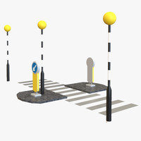 3d zebra crossing model
