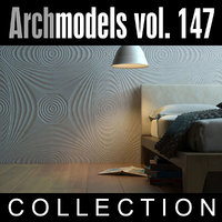 archmodels vol 147 walls 3d c4d
