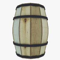 wooden barrel lods 3d model