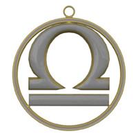 Libra Zodiac Symbol 3D Model