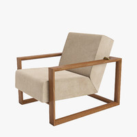 3d model montis dickens lounge chair