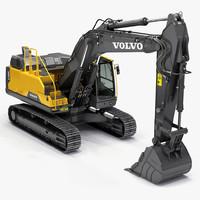 hydraulic excavator ec380el 3d model
