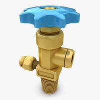 3d gas valve model