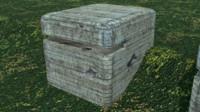 3d model bunker ww2