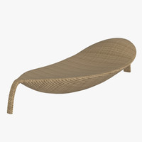 3d model dedon leaf chair