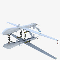 general atomics mq-1 predator 3d model
