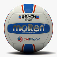 3d molten beach usa volleyball model