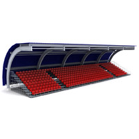stadium seating tribune 3 3d model