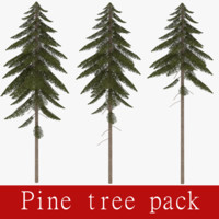 pack pine tree 3ds