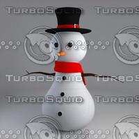printable snowman 3d model