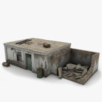 3d old house outbuilding buildings model