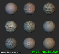 Brick Textures #1-9