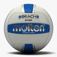 3d model molten beach volleyball