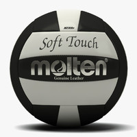 3d molten soft touch volleyball model