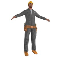 worker man tool 3d max