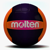 3d molten recreation volleyball 1 model